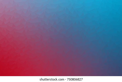 Light Blue, Red vector of small triangles on white background. Illustration of abstract texture of triangles. Pattern design for banner, poster, cover.