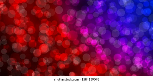 Light Blue, Red vector template with circles. Illustration with set of shining colorful abstract spheres. Design for posters, banners.