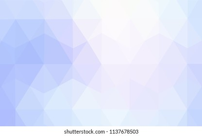 Light Blue, Red vector triangle mosaic template. Triangular geometric sample with gradient.  Triangular pattern for your design.