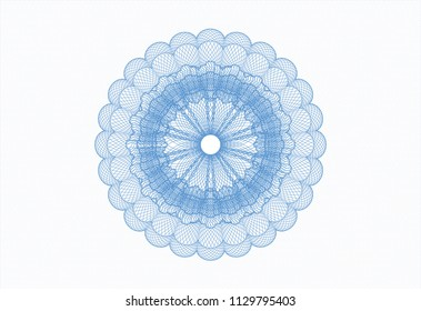 Light blue rosette (money style emblem)