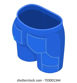 Light blue short icon. Isometric illustration of light blue short vector icon for web