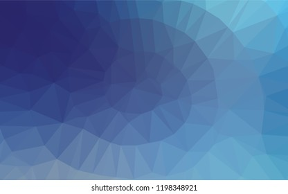Light BLUE vector abstract mosaic background. Triangular geometric sample with gradient.  A completely new template for your business design.
