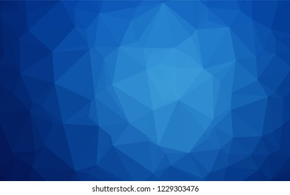 Light BLUE vector abstract mosaic backdrop. Glitter abstract illustration with an elegant design. Triangular pattern for your business design.