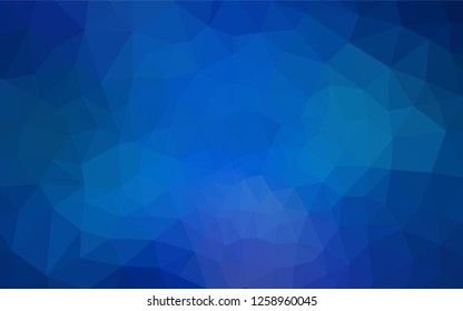 Light BLUE vector abstract mosaic background. A completely new color illustration in a polygonal style. Brand new style for your business design.