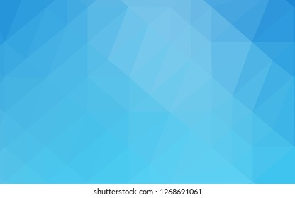 Light BLUE vector abstract mosaic backdrop. A vague abstract illustration with gradient. Textured pattern for background.
