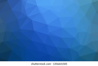 Light BLUE vector abstract mosaic background. Geometric illustration in Origami style with gradient. Brand new style for your business design.
