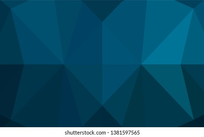 Light BLUE vector abstract mosaic pattern. Triangular geometric sample with gradient.  The best triangular design for your business.