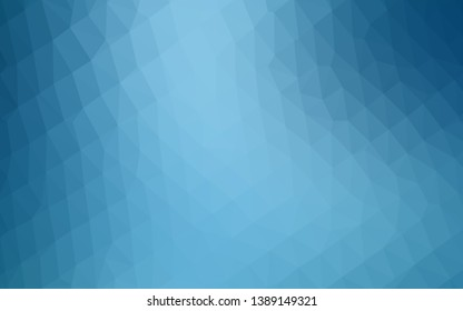 Light BLUE vector abstract mosaic background. Colorful illustration in Origami style with gradient.  Template for a cell phone background.