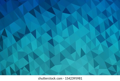 Light BLUE vector abstract mosaic pattern. Brand new colorful illustration in with gradient. Template for a cell phone background.