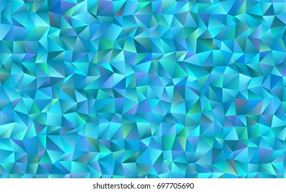 Light BLUE vector abstract mosaic background. Creative illustration in halftone style with gradient. A completely new design for your business.