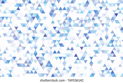 Light BLUE vector abstract mosaic pattern. A completely new color illustration in a vague style. A new texture for your design.