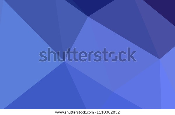 Light BLUE vector abstract mosaic pattern. Colorful abstract illustration with triangles. Template for cell phone's backgrounds.