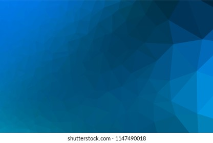 Light BLUE vector abstract polygonal layout. An elegant bright illustration with gradient. The completely new template can be used for your brand book.