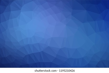 Light BLUE vector abstract polygonal layout. An elegant bright illustration with gradient. The template can be used as a background for cell phones.