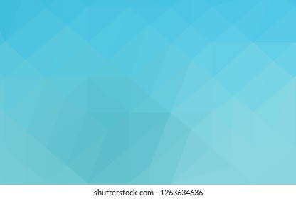 Light BLUE vector abstract polygonal texture. Glitter abstract illustration with an elegant design. Template for your brand book.