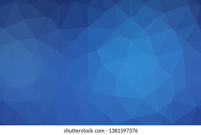 Light BLUE vector abstract polygonal cover. A vague abstract illustration with gradient. Template for a cell phone background.