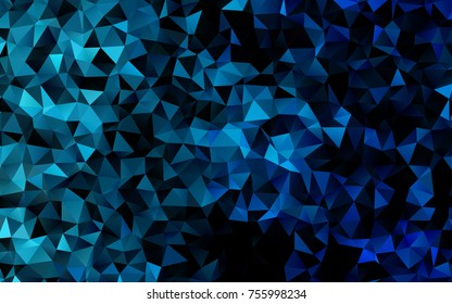 Light BLUE vector abstract polygonal background. Colorful abstract illustration with gradient. The elegant pattern can be used as part of a brand book.