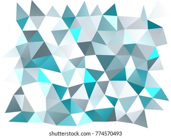 Light BLUE vector abstract polygonal pattern. Shining illustration, which consist of triangles. A new texture for your design.