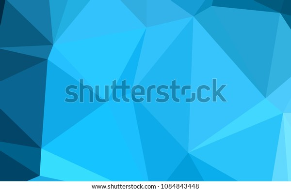 Light BLUE vector abstract polygonal background. Colorful illustration in abstract style with gradient. A new texture for your design.