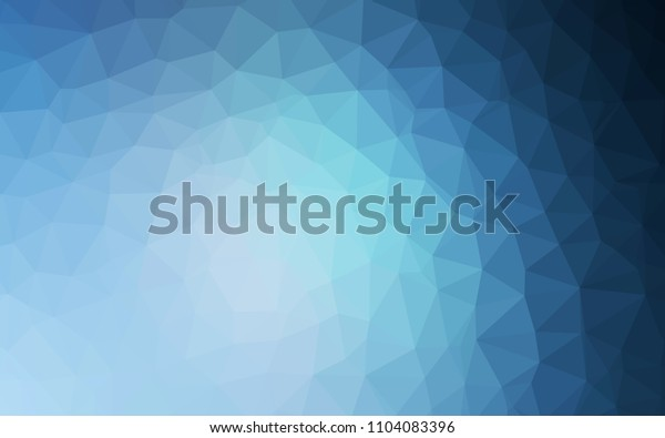 Light BLUE vector abstract polygonal template. Polygonal abstract illustration with gradient. Pattern for a brand book's backdrop.