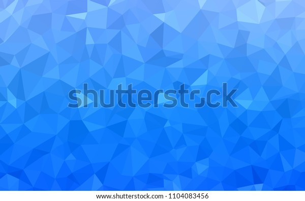 Light BLUE vector abstract polygonal pattern. Geometric illustration in Origami style with gradient.  A completely new design for your leaflet.