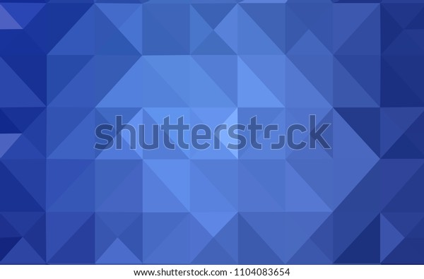 Light BLUE vector abstract polygonal background. Triangular geometric sample with gradient.  Triangular pattern for your business design.