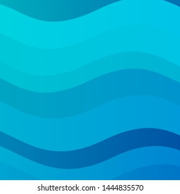 Light BLUE vector backdrop with bent lines. Bright illustration with gradient circular arcs. Pattern for commercials, ads.