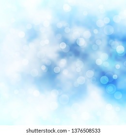 Light BLUE vector backdrop with circles. Illustration with set of shining colorful abstract spheres. Pattern for wallpapers, curtains.