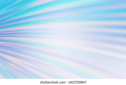 Light BLUE vector backdrop with curved lines. Geometric illustration in abstract style with gradient.  Elegant pattern for a brand book.