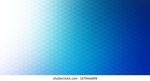 Light BLUE vector backdrop with rectangles. New abstract illustration with rectangular shapes. Pattern for commercials, ads.