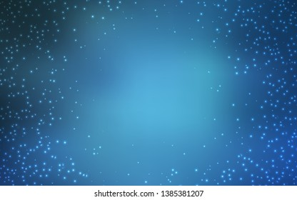 Light BLUE vector background with astronomical stars. Shining illustration with sky stars on abstract template. Pattern for astrology websites.
