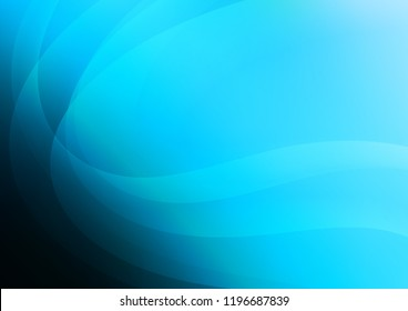 Light BLUE vector background with bent ribbons. Creative illustration in halftone marble style with gradient. The elegant pattern for brand book.