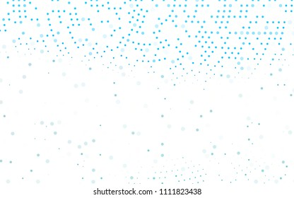 Light BLUE vector  background with dots. Illustration with set of shining colorful abstract circles. Pattern can be used as texture of water, rain drops.