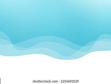 Light BLUE vector background with lava shapes. A completely new color illustration in marble style. Brand new design for your ads, poster, banner.
