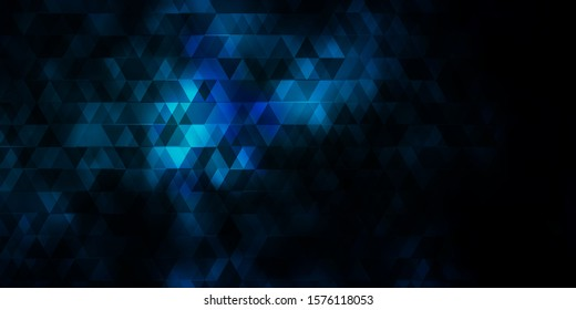 Light BLUE vector background with lines, triangles. Smart design in abstract style with gradient triangles. Design for your promotions.