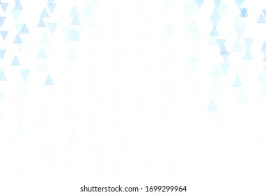 Light BLUE vector background with polygonal style. Triangles on abstract background with colorful gradient. Modern template for landing page.