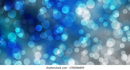 Light BLUE vector background with spots. Abstract colorful disks on simple gradient background. Pattern for business ads.