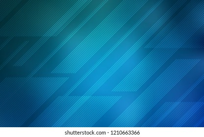 Light BLUE vector background with straight lines. Blurred decorative design in simple style with lines. Best design for your ad, poster, banner.
