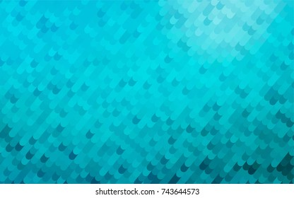 Light BLUE vector bandy background. A vague circumflex abstract illustration with gradient. A completely new template for your business design.