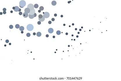 Light BLUE vector banner with circles, spheres. Abstract spots. Background of Art bubbles in halftone style with colored gradient.