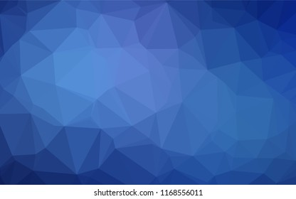 Light BLUE vector blurry hexagon template. Geometric illustration in Origami style with gradient.  Brand new style for your business design.