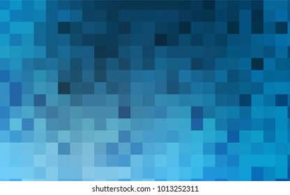 Light BLUE vector blurry rectangular background. Geometric background in square style with gradient. The pattern can be used for brand-new background.