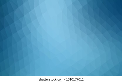 Light BLUE vector blurry triangle texture. Glitter abstract illustration with an elegant design. Completely new design for your business.