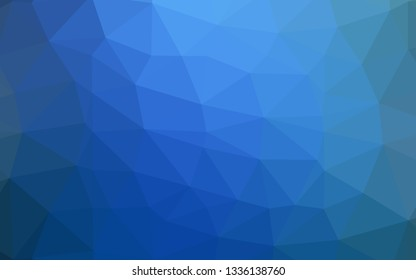 Light BLUE vector blurry triangle texture. Shining illustration, which consist of triangles. The best triangular design for your business.
