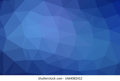Light BLUE vector blurry triangle template. Colorful illustration in Origami style with gradient.  Completely new template for your business design.