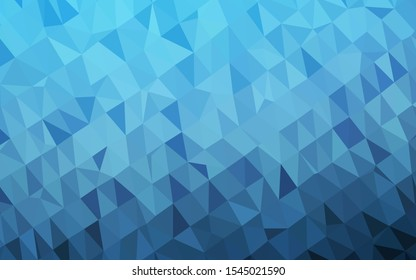 Light BLUE vector blurry triangle pattern. A vague abstract illustration with gradient. Polygonal design for your web site.