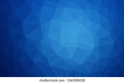 Light BLUE vector blurry triangle texture. A vague abstract illustration with gradient. Completely new design for your business.