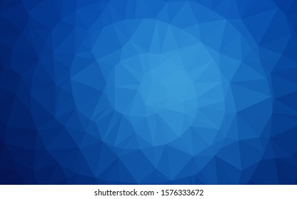 Light BLUE vector blurry triangle texture. Creative illustration in halftone style with gradient. Polygonal design for your web site.