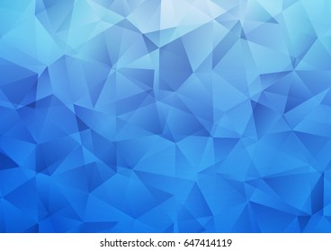 Light BLUE vector blurry triangle template. An elegant bright illustration with gradient. Triangular pattern for your business design.