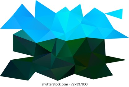Light BLUE vector blurry triangle background. Shining colored illustration in a brand-new style. The textured pattern can be used for background.